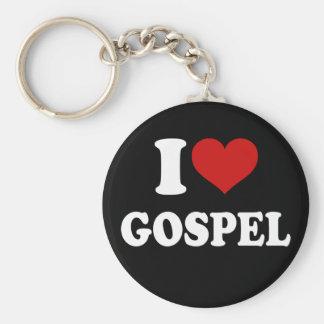 Eu amo o evangelho chaveiro
