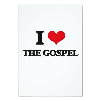 Eu amo o evangelho convite 8.89 x 12.7cm
