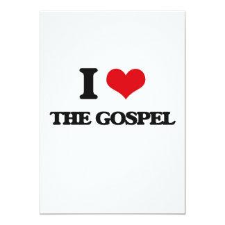 Eu amo o evangelho convite 12.7 x 17.78cm