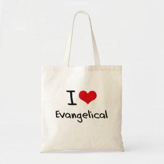Eu amo o Evangelical Sacola Tote Budget