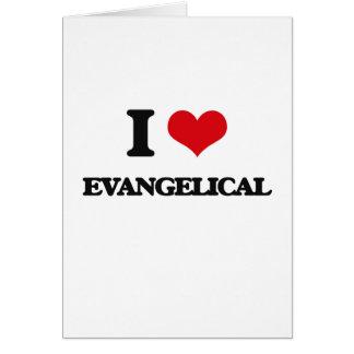 Eu amo o EVANGELICAL Cartão