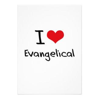 Eu amo o Evangelical Convites Personalizados