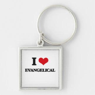 Eu amo o EVANGELICAL Chaveiros