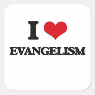 Eu amo o EVANGELISMO Adesivo Em Forma Quadrada