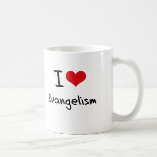 Eu amo o evangelismo caneca