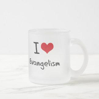 Eu amo o evangelismo caneca de vidro fosco