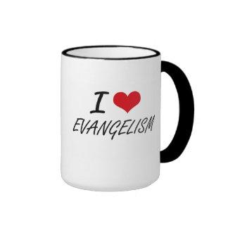 Eu amo o EVANGELISMO Caneca Com Contorno