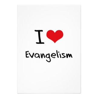 Eu amo o evangelismo convite