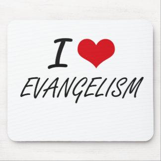 Eu amo o EVANGELISMO Mouse Pad