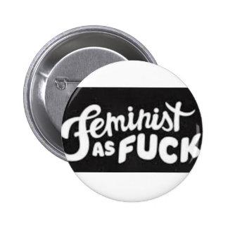 eu amo o feminismo bóton redondo 5.08cm