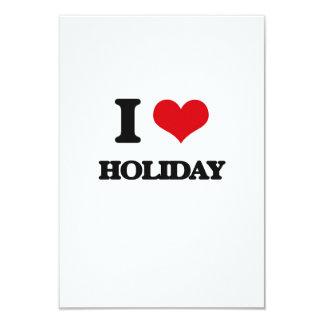 Eu amo o feriado convite 8.89 x 12.7cm