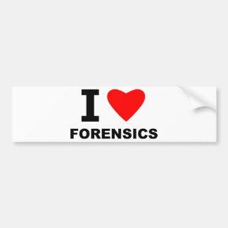 Eu amo o forense adesivo para carro