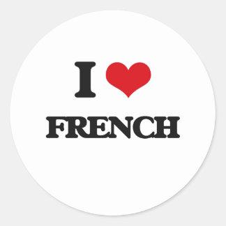 Eu amo o francês adesivo