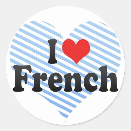 Eu amo o francês adesivos