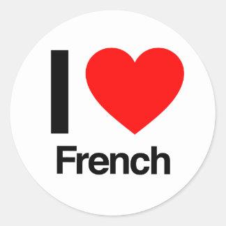 eu amo o francês