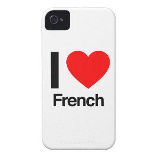 eu amo o francês capinha iPhone 4