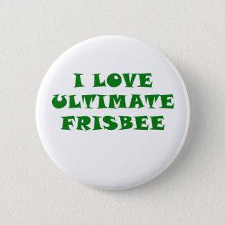 Eu amo o Frisbee final Bóton Redondo 5.08cm