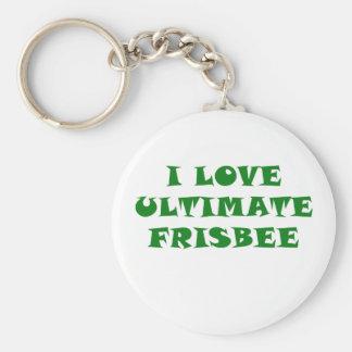 Eu amo o Frisbee final Chaveiro