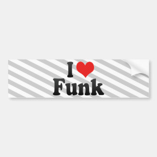 Eu amo o funk adesivo para carro