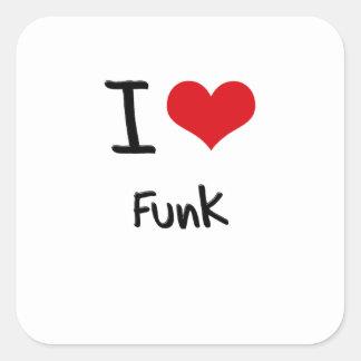 Eu amo o funk adesivos quadrados