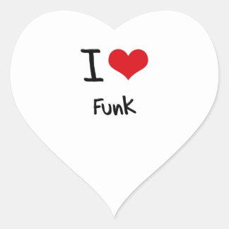 Eu amo o funk adesivo de coração