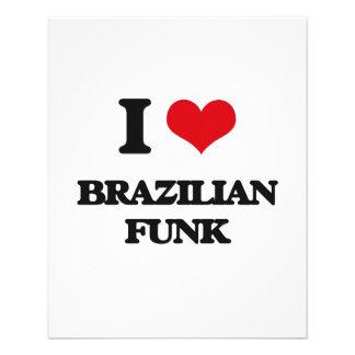 Eu amo o FUNK BRASILEIRO Modelo De Panfleto