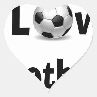 Eu amo o futebol adesivo coração