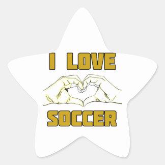Eu amo o futebol adesivo estrela