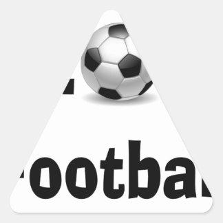 Eu amo o futebol adesivo triangular