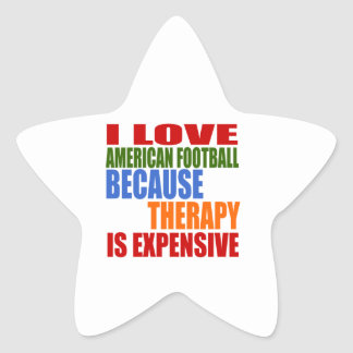 Eu amo o futebol americano porque a terapia é adesivo estrela