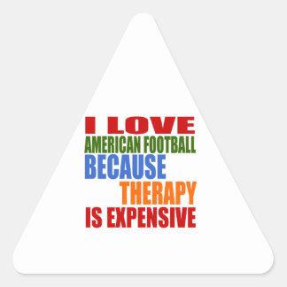 Eu amo o futebol americano porque a terapia é adesivo triangular
