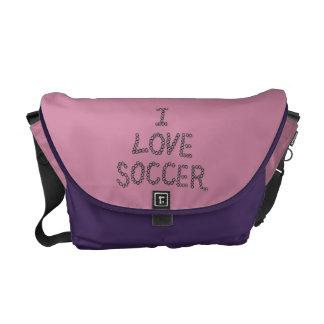 Eu amo o futebol bolsa mensageiro