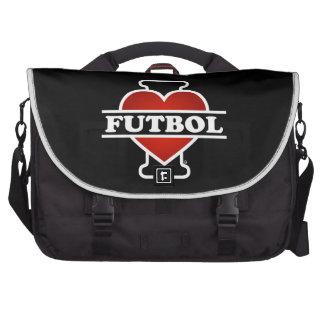 Eu amo o futebol bolsa para computador portátil