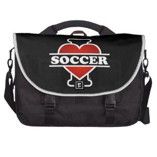Eu amo o futebol bolsas para notebook