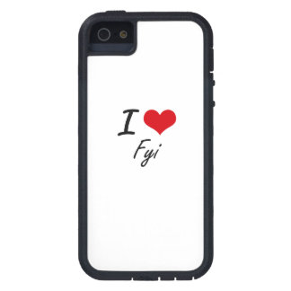 Eu amo o FYI Capa Para iPhone 5