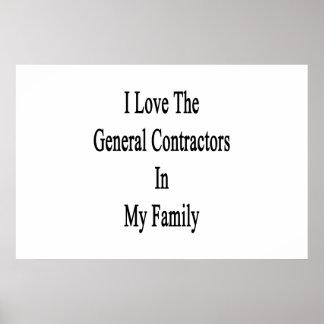 Eu amo o general Contratante minha família Poster