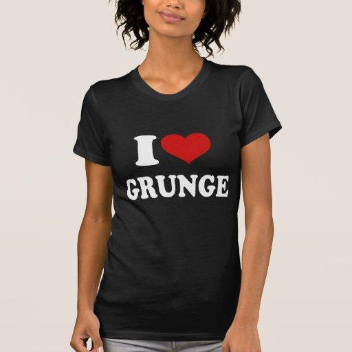 Eu amo o Grunge Camisetas