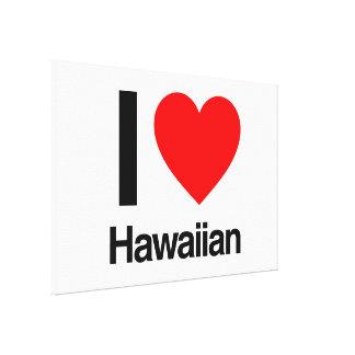 eu amo o hawaiian impressão em canvas