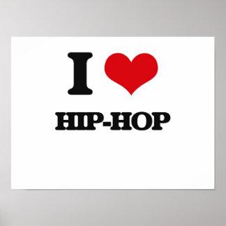 Eu amo o hip-hop poster