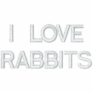 Eu amo o Hoodie bordado das mulheres dos coelhos Moletom Com Capuz Pulôver Bordado Feminino