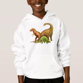 Eu amo o Hoodie dos miúdos dos dinossauros