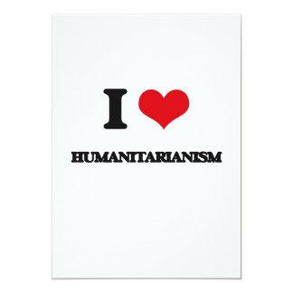 Eu amo o Humanitarianism Convite 12.7 X 17.78cm
