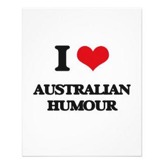 Eu amo o HUMOR AUSTRALIANO Modelo De Panfletos