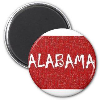 Eu amo o ímã de Alabama perto: da'vy Ímã Redondo 5.08cm