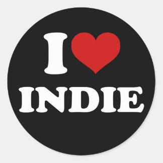 Eu amo o Indie Adesivo