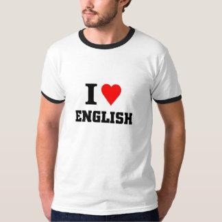 Eu amo o inglês tshirts
