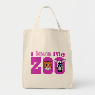 Eu amo o jardim zoológico bolsa para compra