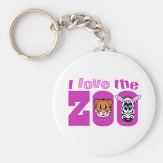 Eu amo o jardim zoológico chaveiro