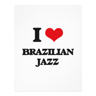 Eu amo o JAZZ BRASILEIRO Panfletos Personalizado