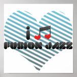 Eu amo o jazz da fusão poster